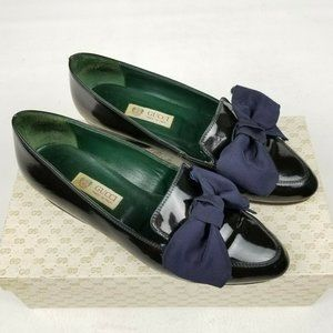 Vintage Gucci Womens Loafers Patent Leather 36 / 6